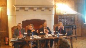 Manuel Delgado-Iribarren, Eugenio Nasarre, Jose María Gil Robles, Francisco Aldecoa)