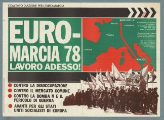 1978 Primera gran marcha europea de protestar social. Reproduction International Institute for Social History, Amsterdam, Netherlands