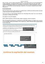 explicación del examen